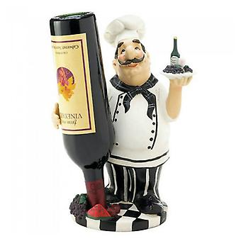 Accent Plus Standing Italian Chef Wine Bottle Holder, Pack of 1