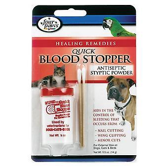 ארבע כפות רגליים אבקת סטייפטית חיטוי פקק דם ארבע כפות - 0.5 אונקיות