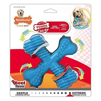 Nylabone Power Chew Comfor Hold X Bone Durable Dog Toy Beef Flavor Giant - 1 count