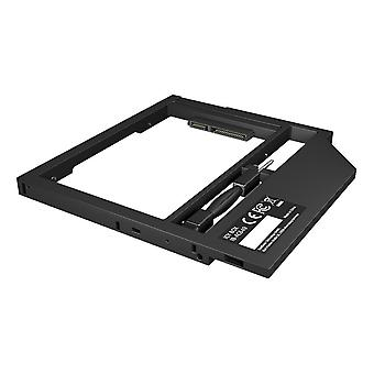 """Adapter for 2.5"""" HDD/SSD in 9-9.5 mm Notebook DVD bay, with screwdrive"""