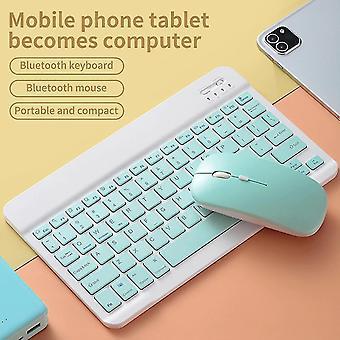 Keyboards qwert 10inch wireless bluetooth keyboard mouse laptop bluetooth keyboard notebook keyboards green