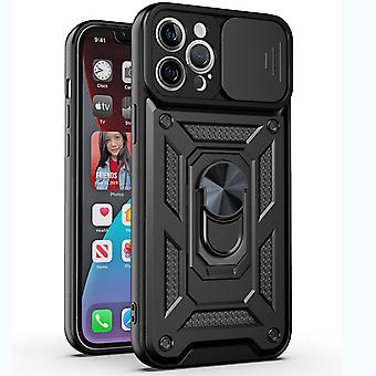 Suitable For Iphone 12 Pro Max-6.7 Inch Metal Frame Mobile Phone Case Frosted Transparent Pc All-inclusive Protective Cover