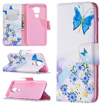 Fall für Xiaomi Redmi Note 9 Muster Schmetterling Blume