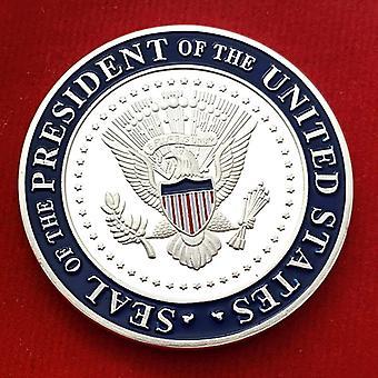 Kultakolikolla 2020 Amerikkalainen Biden hopeapinnoitettu muistokoli keräilykolikon hahmo kultakolikon mitali