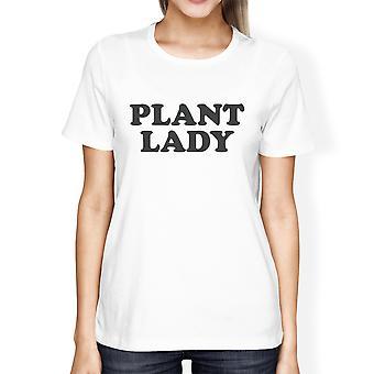 Inc Pflanze Lady Frauen weiße Kurzarm Baumwolle T-Shirt einzigartiges Design