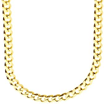 Argento Sterling 925 marciapiede catena - CURB 6, 7mm oro