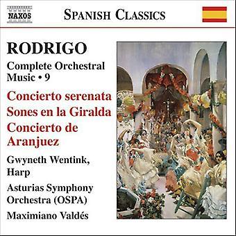 J. Rodrigo - Rodrigo: Vollständige Orchestermusik, Vol. 9 [CD] USA import