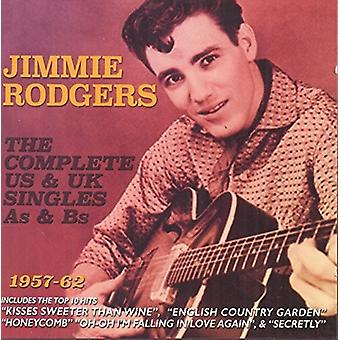 Jimmie Rodgers - Rodgers Jimmie completa nos & EUA Reino Unido único [CD] importar