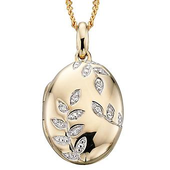 9 ct Gold With Photo And Diamond Necklace