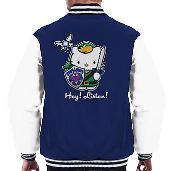 Hey Listen Link Hello Kitty Zelda Men's Varsity Jacket