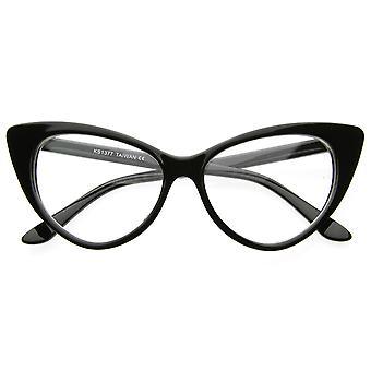 超级猫眼眼镜复古灵感模式时尚清晰镜头眼镜