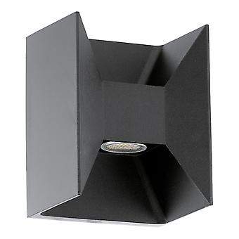 Eglo Morino LED Outdoor Black Up & Down Wall Light