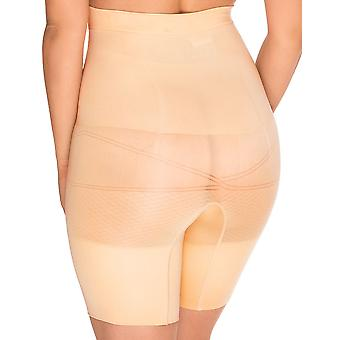 Sans Complexe 699153 Women's Slimmers Cilt Firma/Orta Kontrol Zayıflama Şekillendirme Yüksek Bel Uzun Bacak Kısa