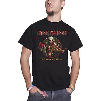 Iron Maiden T Shirt Book Of Souls Eddie Circle band logo new Official Mens Black