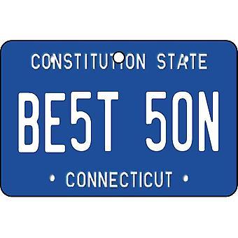 Connecticut - Best Son License Plate Car Air Freshener