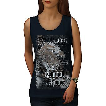 Eagle Head Old Vintage Women NavyTank Top | Wellcoda