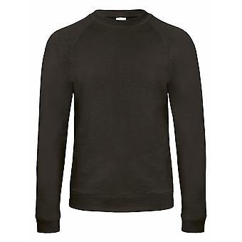B&C Denim Mens Starlight Raglan Slub Sweatshirt
