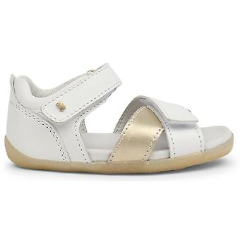 Bobux Step Up Sail Sandals White Misty Gold