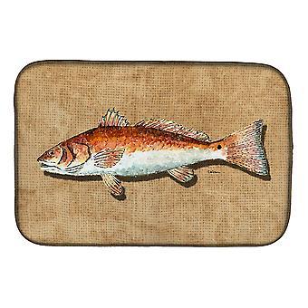 Piatto di pesce rosso di Carolines tesori 8807DDM essiccazione Mat