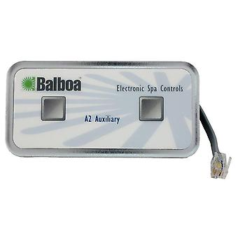 Balboa 51216 2-Button Auxillary 6-Conductor Spa Control Panel with 18' Cord