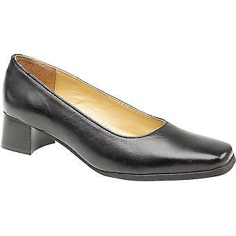 Amblers レディース ウォルフォード スリップ ワイド フィット レザー フォーマル コート靴ブラック