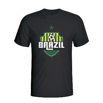 Brazilië land Logo T-shirt (zwart)