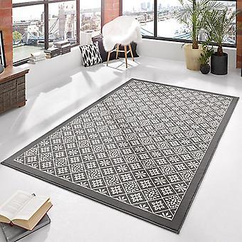 Crema de azulejo gris alfombra velour diseño | 102425
