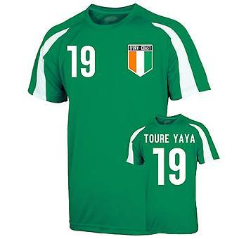 Ivory Coast Sports Training Jersey (toure Yaya 19)