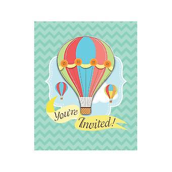 Babyballoon invitation à bébé avec couvercle pièce 8 enfants fête d'anniversaire Thème