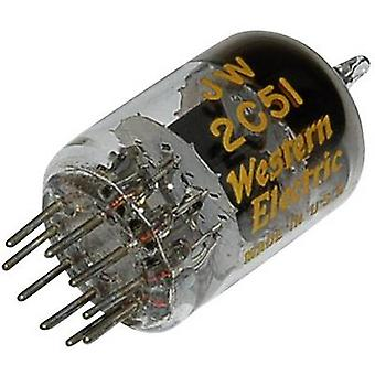 2 C 51 = 6 N 3 Vacuum tube Double triode 130 V 7.6 mA Number of pins: 9 Base: Noval Content 1 pc (s)