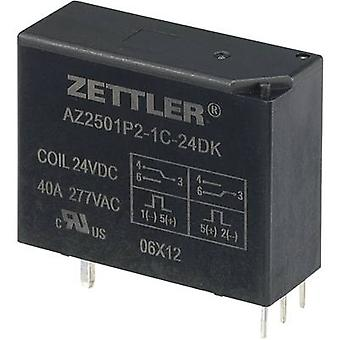 Zettler Electronics AZ2501P2-1C-24DK PCB relay 24 V DC 50 A 1 change-over 1 pc(s)