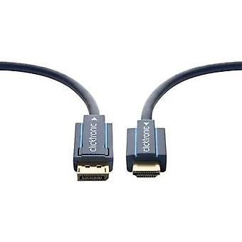 clicktronic DisplayPort / HDMI كابل 3.00 م الذهب مطلي موصلات الأزرق [1x منفذ العرض المكونات - 1X HDMI المكونات]