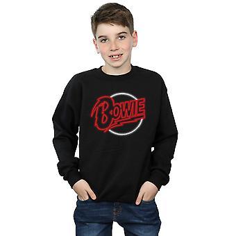 David Bowie pojkar Neon logotyp Sweatshirt