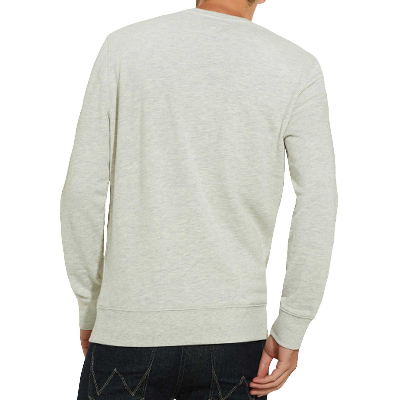 Wrangler Mens Mascotte Long Sleeve Crew Neck Pullover Sweatshirt Sweater