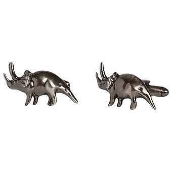 Simon Carter Triceratops Dinosaurus Manchetknopen - grijs