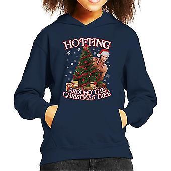 デビッド Hasselhoff Hoffing クリスマスツリーキッドのフード付きスウェットシャツの周り