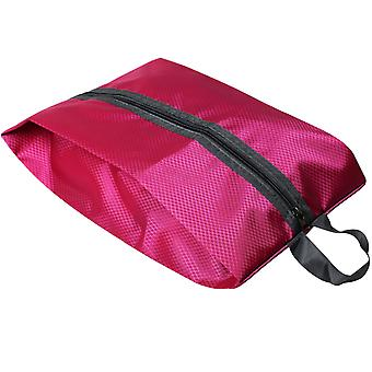Hot Pink Fabric Collapsible Shoe Storage bag Luggage Organisation with Zip TRIXES