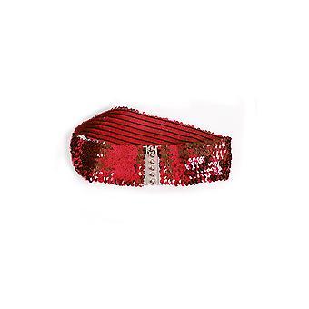 Ceintures et ceinture large de bretelles avec paillettes rouges
