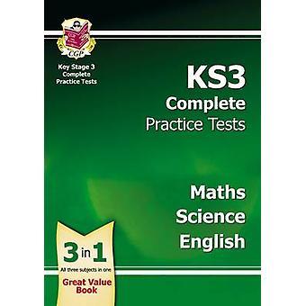 KS3 Täydellinen harjoituskokeista - tiede - matematiikka ja Englanti CGP kirja