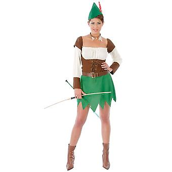 Womens Forest Archer Fancy Dress Costume