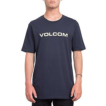 Volcom Men's T-Shirt ~ Crisp Euro navy