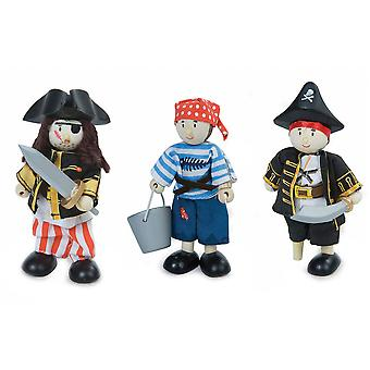 Le Toy Van Traditional Toys Pirates Triple Pack