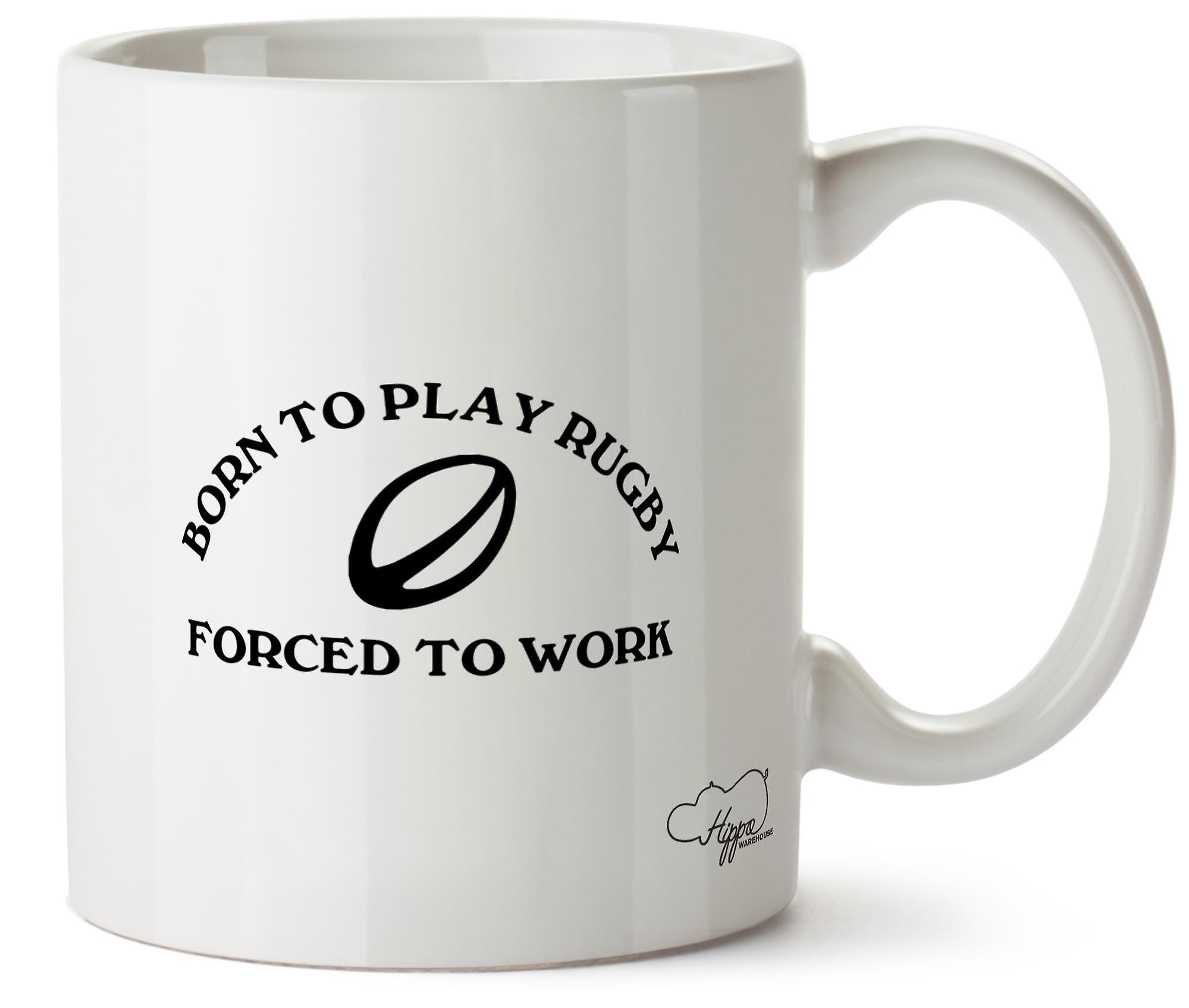 Hippowarehouse родился в играть в регби, вынуждены работать печатных кружка Кубок керамические 10oz