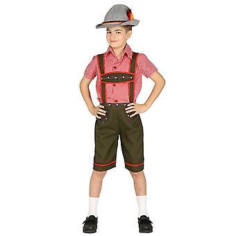 Boys Bavarian Oktoberfest Fancy Dress Costume