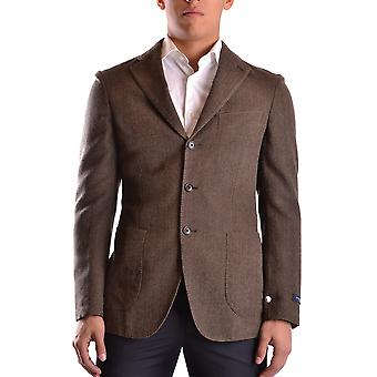 Burberry Ezbc001018 Men's Brown Wool Blazer
