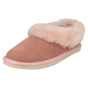 Ladies Padders Fur Trim Slippers Cuddle