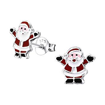Father Christmas Sterling Silver Stud Earrings
