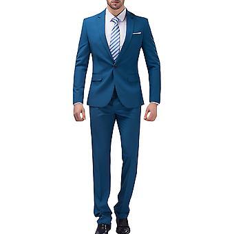 Allthemen mænds jakkesæt Business bryllup 2-stykker Suit blazer & bukser 10 farver