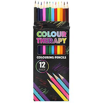 Colour Therapy 12-Pack color pencils, paint, draw, Relax