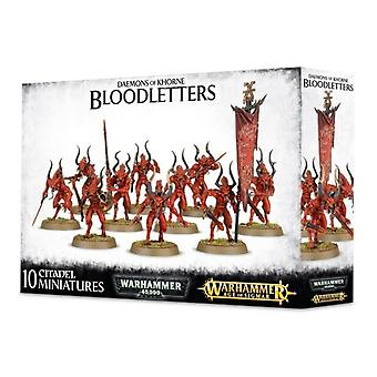 Pelit Workshop-Warhammer-Daemons ja Khorne Bloodletters